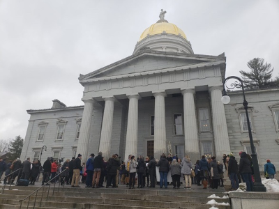 Advocates at the Vermont State House on Homelessness Awareness Day