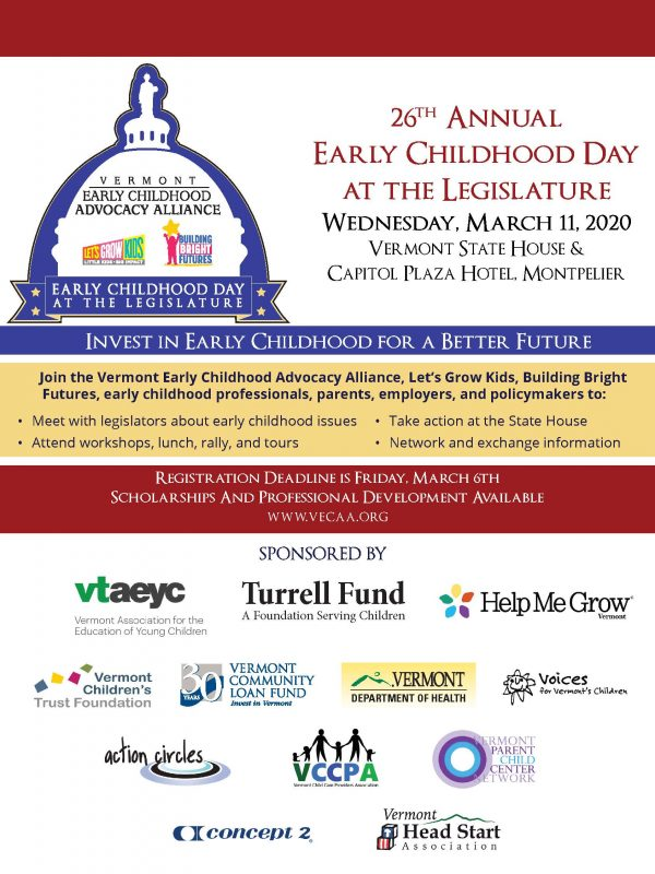 Invitation to Early Childhood Day at the Legislature.